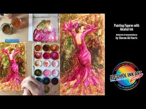 How to Paint with Alcohol Ink:  Painting Figures