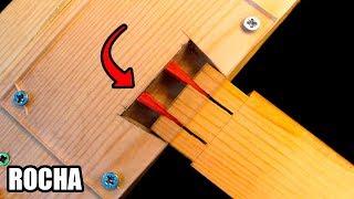 Unir madera SIN cola con falsa cola de milano (Trucos de bricolaje)