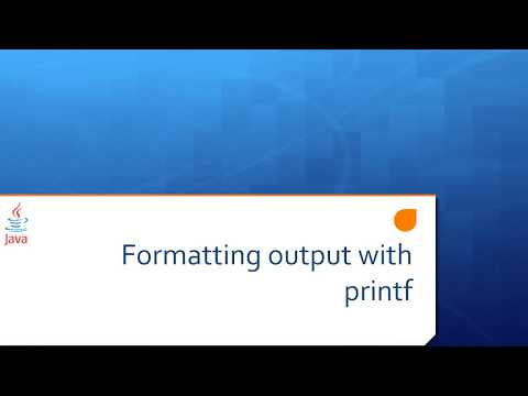 Lesson 6a Formatting output with printf