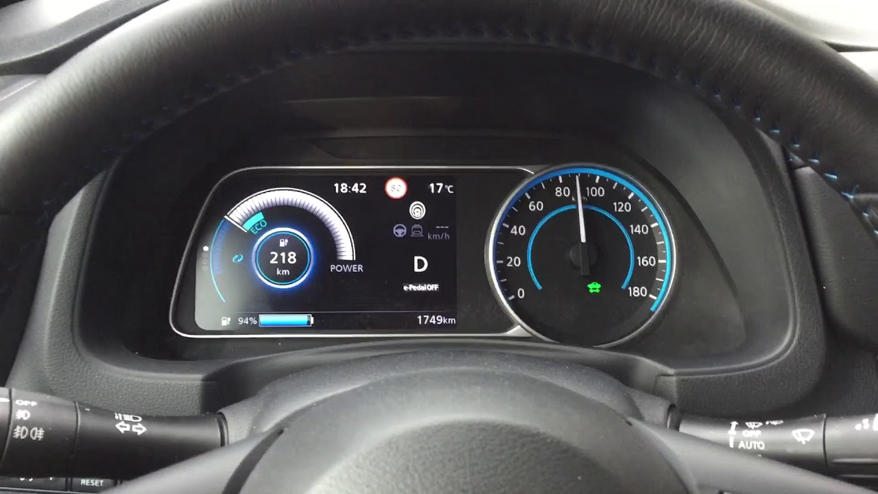 2018 Nissan Leaf acceleration 0-100 km/h 0-160 km/h top speed - YouTube