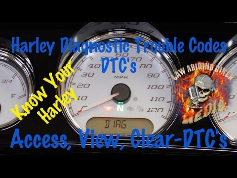 Harley Diagnostic Trouble Codes-DTC's-Access View Clear Error Trouble Codes-Motorcycle Podcast