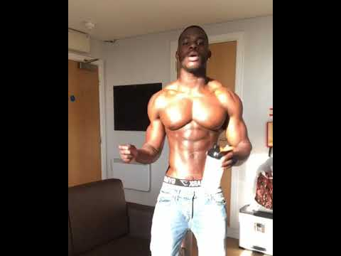 Young black muscle men