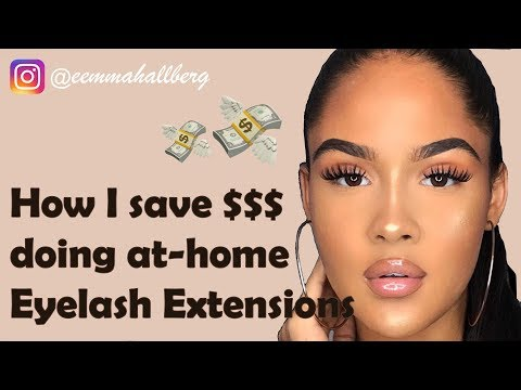 EEMMAHALLBERG DIY AT-HOME EYELASH EXTENSIONS