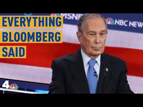 Everything Mike Bloomberg Said At The Las Vegas Democratic Debate | NBC New York