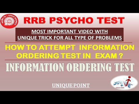 INFORMATION ORDERING TEST (COMMON TRICK FOR ALL PROBLEM)