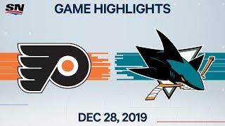 NHL Highlights   Flyers vs. Sharks - Dec. 28, 2019