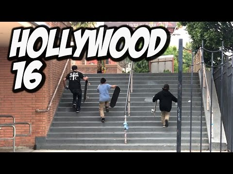 KIDS SKATE HOLLYWOOD HIGH 16 STAIR - A DAY WITH NKA -