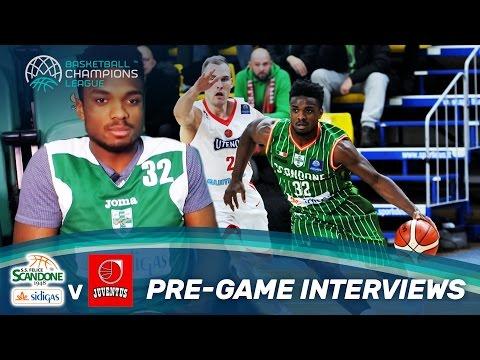 Pre-Game Interviews with Sidigas Avellino vs. Juventus Utena /w Fesenko, Obasohan & Thomas