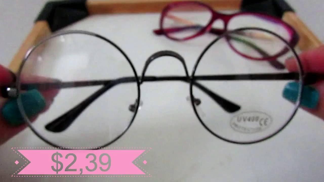 b7dc7396852ae Unboxing de Armações de óculos do Aliexpress  armação de gatinho ...