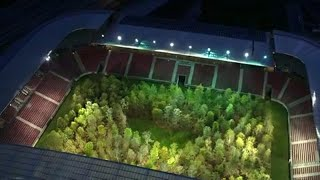 Forest in Austrian stadium opens to public with environmental message