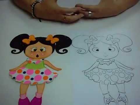 diy muñeca en foami goma eva microporoso 5ta parte easy crafts