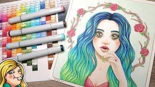Copic Art - Rosa