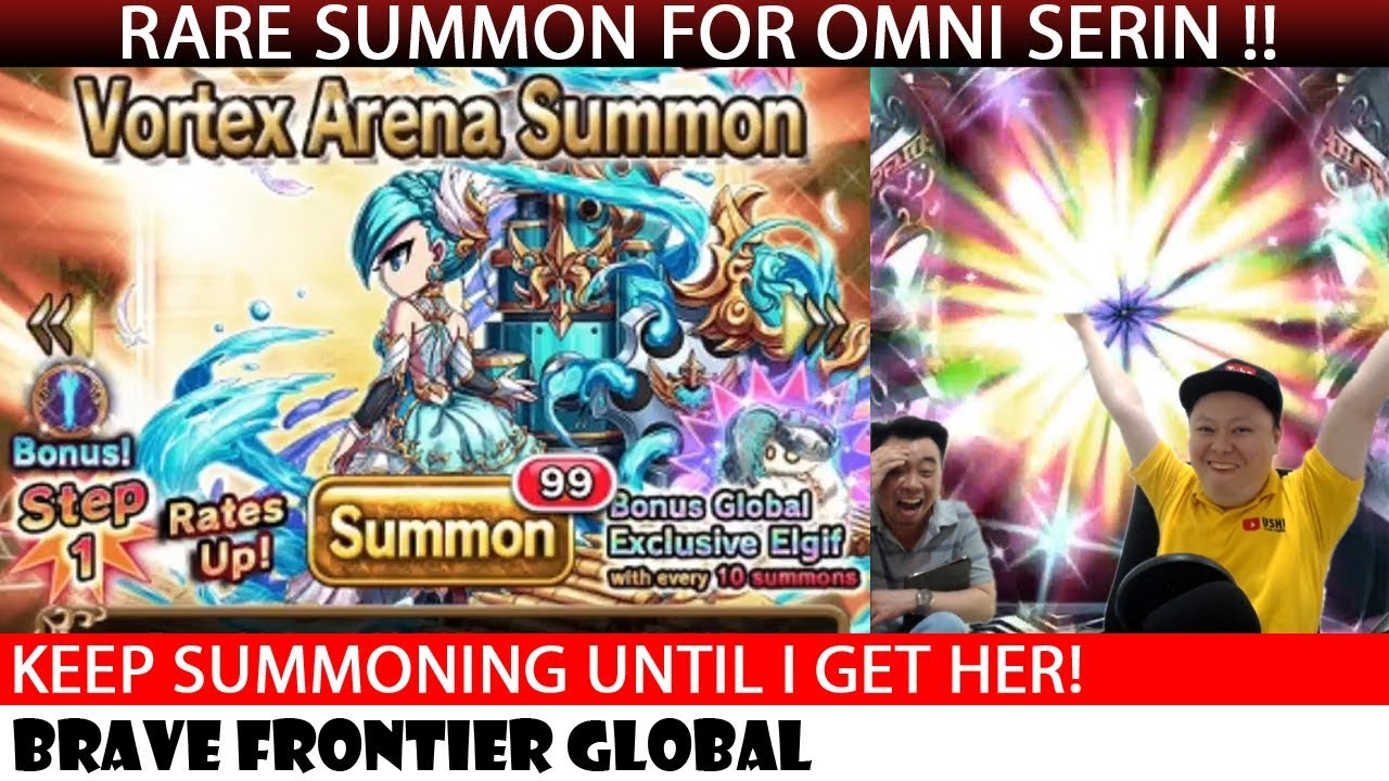 Omni Serin Rare Summon With Milko ! (Brave Frontier Global)