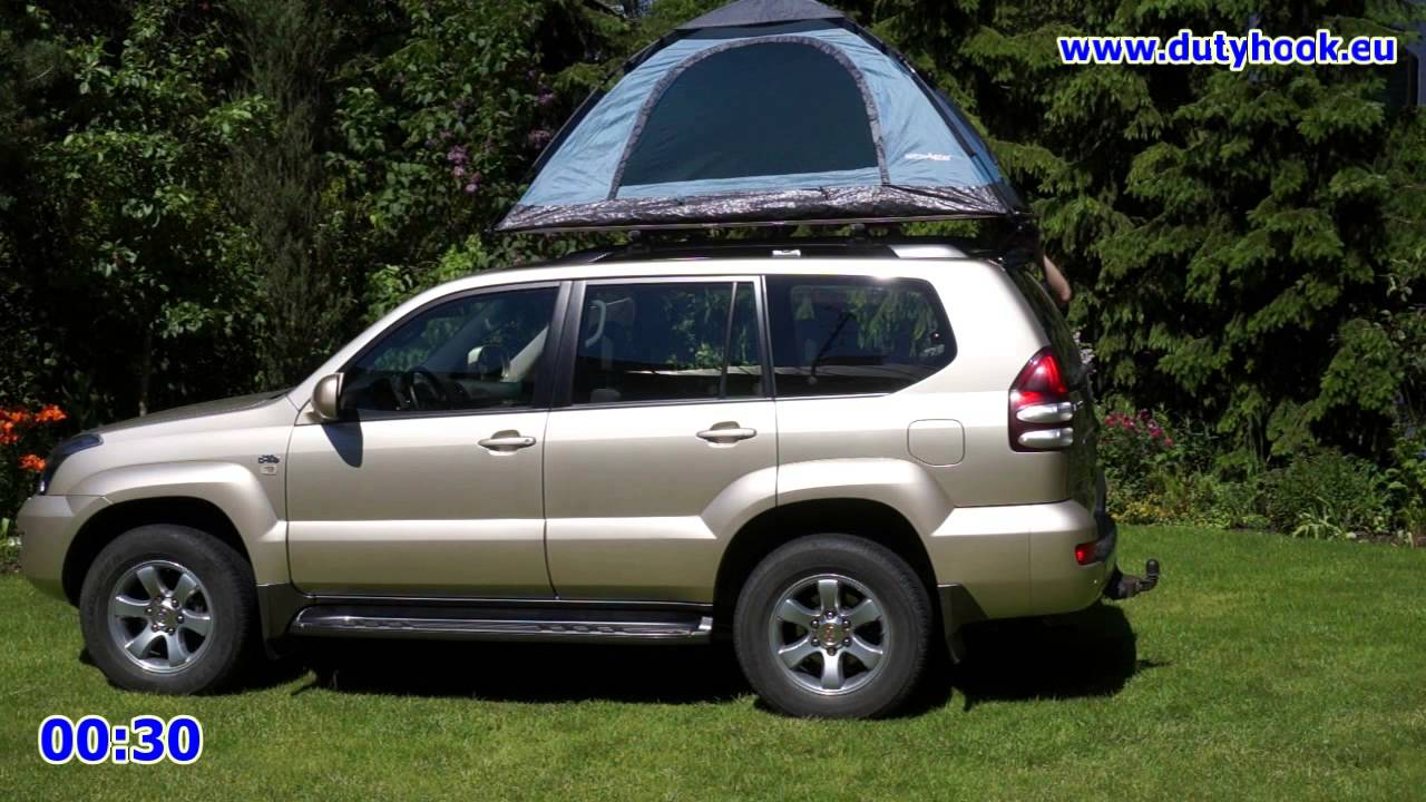 & Self made Car Rooftop Tent set up in 2 minutes - YouTube