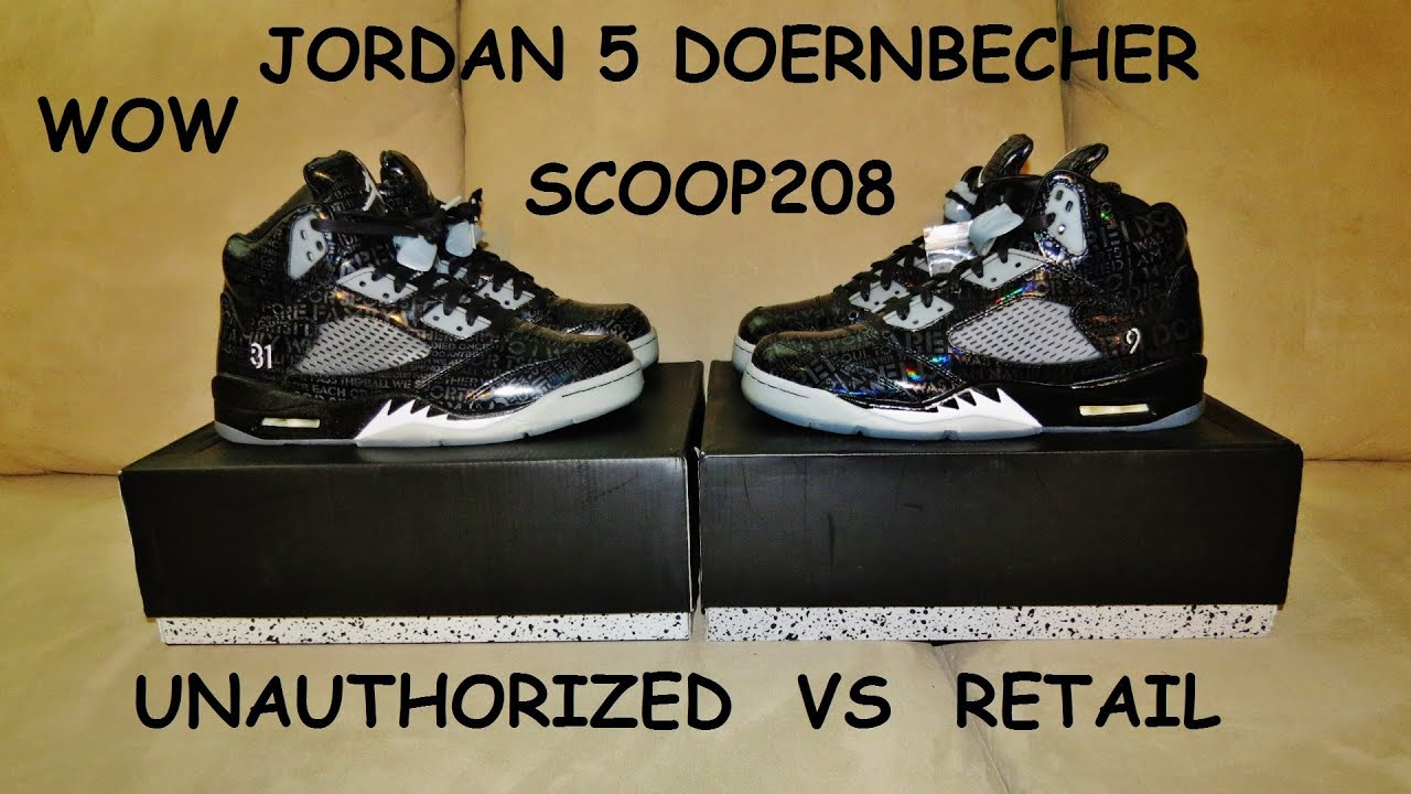1377bca8f88 JORDAN 5 DOERNBECHER REAL VS FAKE