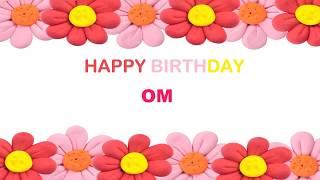 Om   Birthday Postcards & Postales - Happy Birthday