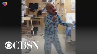 5-year-old boy celebrates end to cancer treatment with Michael Jackson dance