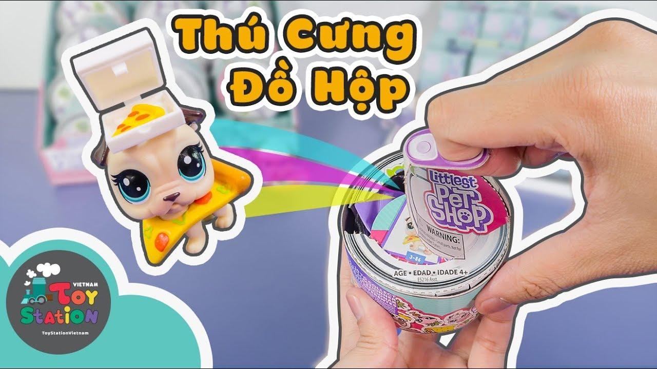 Thú cưng trong can đồ hộp Littlest Pet shop và móc khóa series 3 ToyStation 315