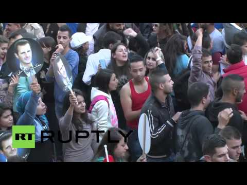 Syria: Tartus residents stage pro-Russian rally in support of anti-terror operation