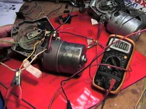 Willcox Corvette Bench test a 1968 Corvette Wiper Motor  YouTube