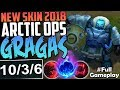 NEW SKIN 2018 ARCTIC OPS GRAGAS | WTF DAMAGE | New Runes Gragas vs Veigar MID Season 8 PBE Gameplay