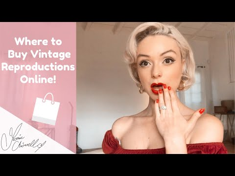 WHERE TO BUY REPRODUCTION VINTAGE CLOTHES ONLINE!