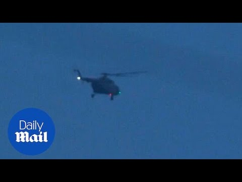 Military helicopter believed to be carrying two of the Thai students