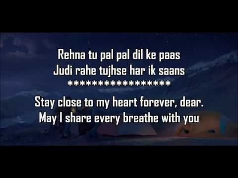 Pal Pal Dil Ke Paas Title Lyrics With Translation  Arijit , Parampara  Karan Deol , Sahher Bambba