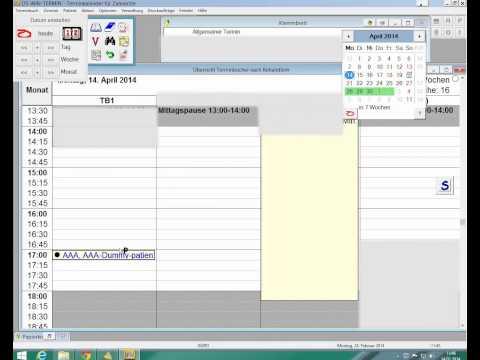 Terminvergabe und Terminänderung bei Dampsoft DSWIN