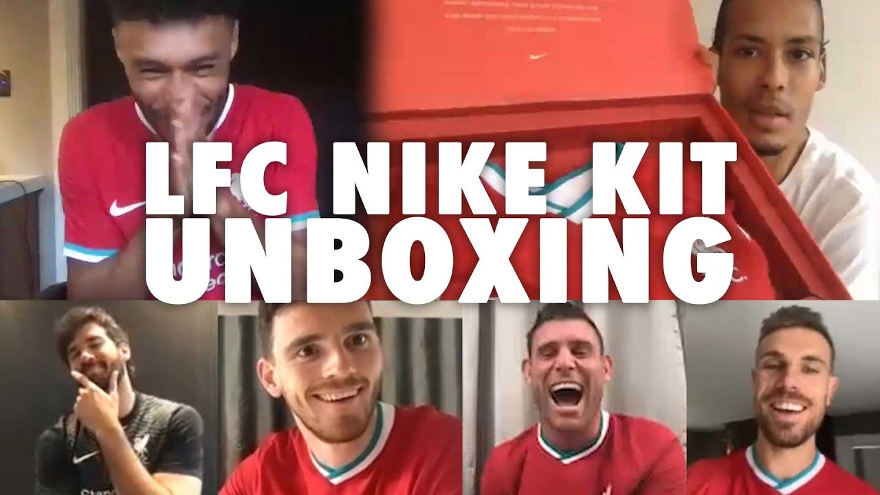 LFC's new Nike kit unboxing with Van Dijk, Ox and the lads | 'It's absolutely FIRE