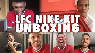 Lfc's New Nike Kit Unboxing With Van Dijk, Ox And The Lads | 'it's Absolutely Fire' 🔥🔥🔥