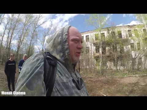 Заброшенный Парк вместе со старым общежитием в городе Калязин