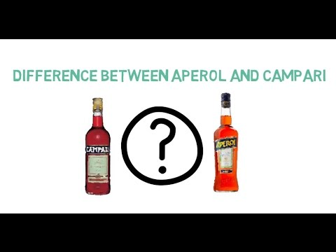 What is the difference between Campari and Aperol?