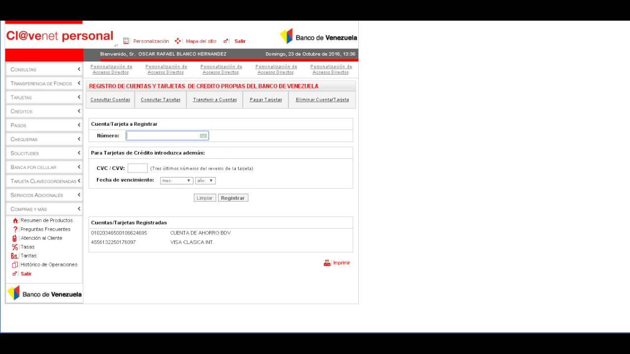 Como registrar cuenta en clavenet personal youtube Banco venezuela clavenet