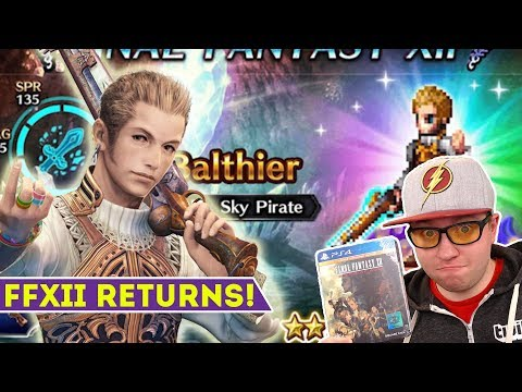 FFBE Final tasy Brave Exvius  Final tasy XII Has Returned!  Balthier is Here!