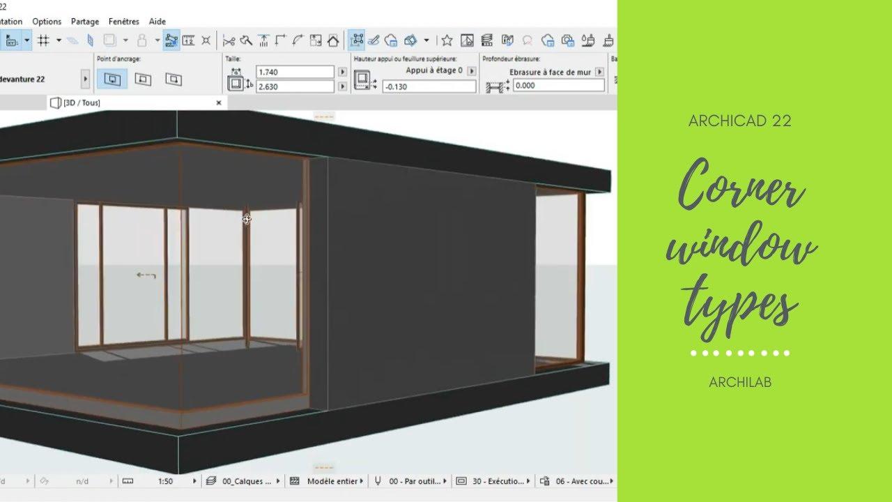 Archicad 22 Angle Window Youtube