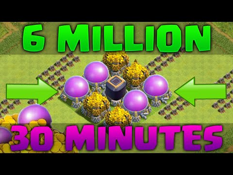 Farming 6.2 Million Resources in 30 Minutes! Clash of Clans - LOOT DESTRUCTION!