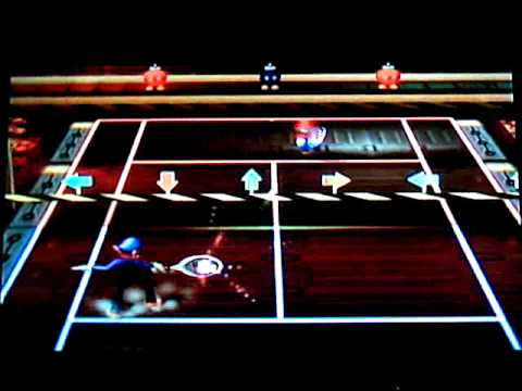 Mario Power Tennis - Exhibition Mode - Wario Factory Court (Gimmick & Standard)