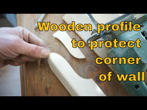 Wooden profile to protect corner of wall 📐 Wooden corbel to protect corner of the wall Corner