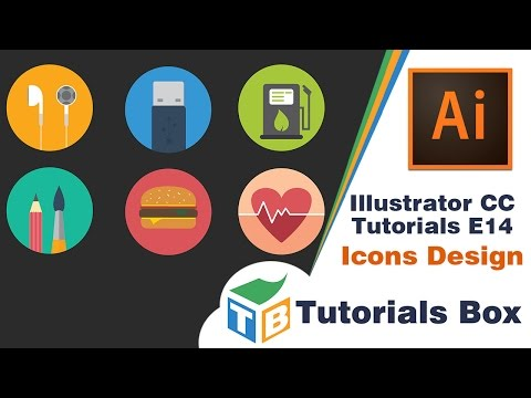 Illustrator CC Tutorials | E014 | Icons Design