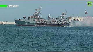 В России и сирийском Тартусе отметили День ВМФ торжественными парадами