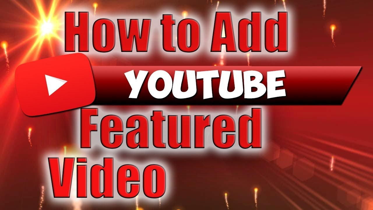 how to add in youtube video