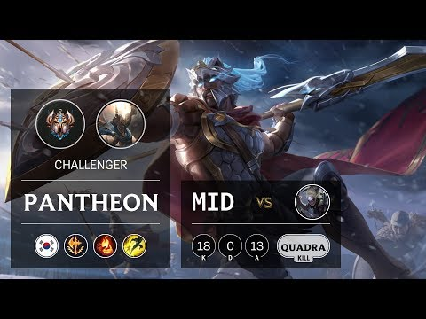 Pantheon Mid vs Diana - KR Challenger Patch 9.24