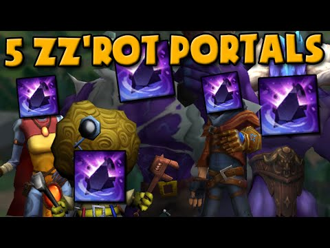 5 ZZ'ROT PORTALS + 5 BANNERS OF COMMAND = THE ULTIMATE UNSTOPPABLE LEAGUE OF LEGENDS PUSH BUILD