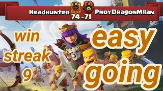 Headhunter vs PnoyDragonMilan | win streak 9 | war recap | best of | TH 12 | COC clash of clans 2018