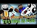 SCARE VIKKSTAR AGAIN? - Minecraft Portal Mod Map (Testing is FUN)