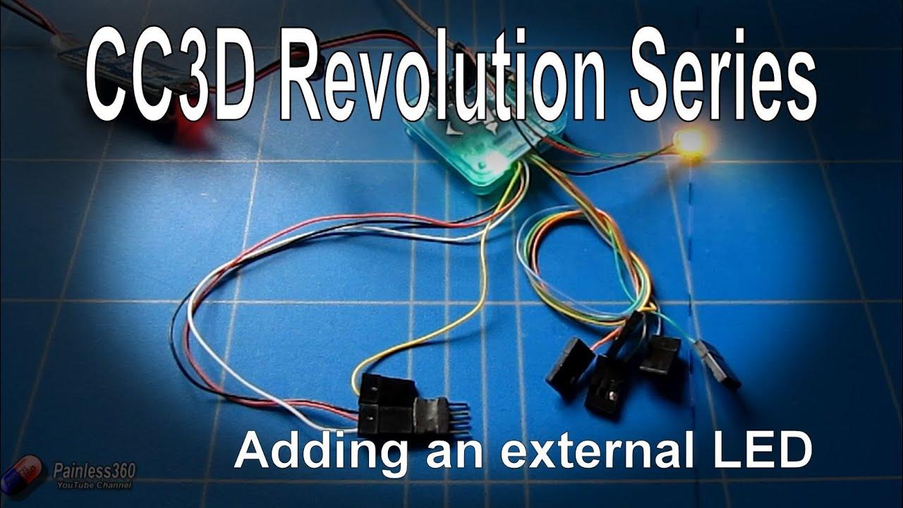 cc3d revo quick tip - adding an external ws2812 led