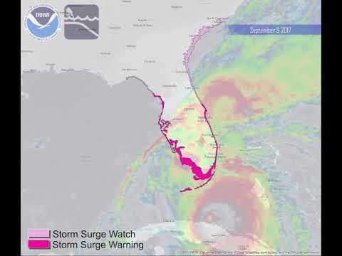 Hurricane Irma: Storm Surge Watches and Warnings