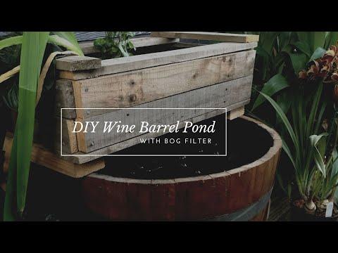 DIY Wine Barrel Pond- With Bog Filter