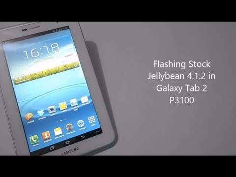 How To Flash Stock Firmware Jellybean 4.1.2 On Galaxy Tab 2 P3100